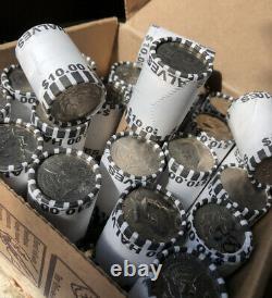 $100 FV Unsearched, Bank-sealed Kennedy Half Dollar Rolls 10 Roll Lot Brinks