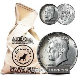 $100 Face Value Bag 200 Coins 40% Silver Kennedy Half Dollars (Circ)