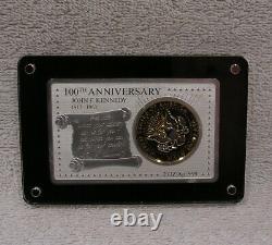 100th Anniversary JFK's Birth Silver Bar and Coin Set 2 oz Bar 1964 Half Dollar