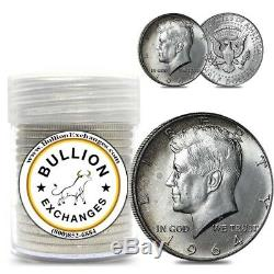 $10 Face Value 1964 Kennedy Half Dollars 90% Silver 20-Coin Roll (Circulated)