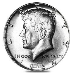 $10 Face Value 1964 Kennedy Half Dollars 90% Silver 20-Coin Roll (Uncirculated)