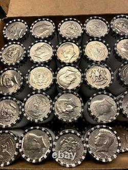 10 TEN Kennedy Half Dollar Unsearched Bank Rolls Possible 90% 40% Silver Errors