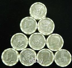 10x HALF DOLLAR KENNEDY ROLL LOT $100 FV UNOPENED BANK ROLLS HALVES COIN LOT