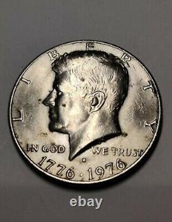 1776-1976 John F Kennedy Bicentennial'D' Half Dollar