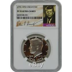 1776-1976 S Kennedy Proof Silver Half Dollar Coin NGC PF70 Ultra Cameo Pop 2