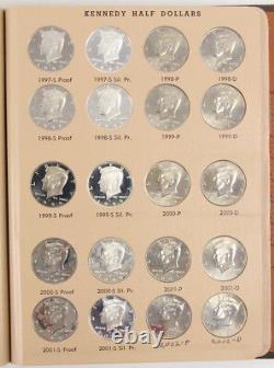 1964-2012 P/D/S Kennedy Half Dollar Set Dansco Album 160 Coins 50C Proof and SMS