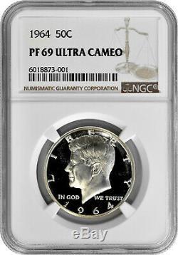 1964 50c Silver Proof Kennedy Half Dollar NGC PF 69 Ultra Cameo