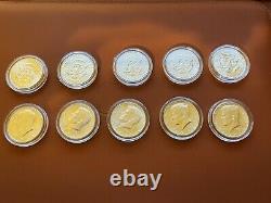 1964 90% Silver kennedy half dollar silver bu roll/ 20 Coins