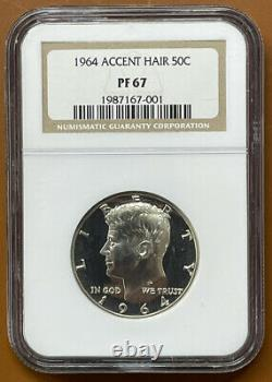 1964 Accented Hair Kennedy Half Dollar Silver NGC PF67 PF-67 Proof Coin TCCCX