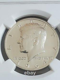 1964 Accented Hair Silver Kennedy Half Dollar NGC Accent PF68