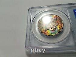 1964 KENNEDY Silver Half Dollar PCGS MS 65 Monster Rainbow Toner Toning Toned