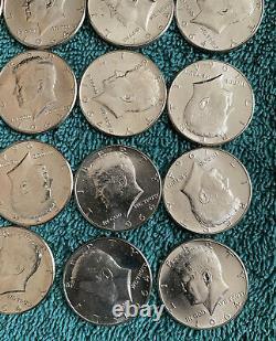 1964 Kennedy 1/2 dollar Roll 20 coins 90% Silver BU CHOICE