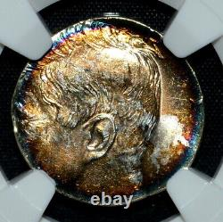 1964 Kennedy 50c Half Dollar Struck On Silver 10c Planchet Ngc Ms-64trusted