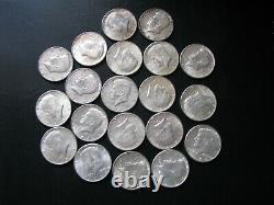 1964 Kennedy Half Dollar 90% Silver 20 US Coins