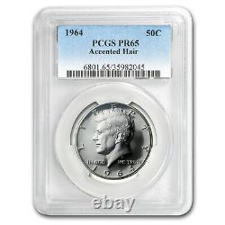 1964 Kennedy Half Dollar Proof-65 PCGS (Accented Hair Variety) SKU#54188