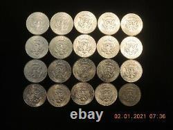 1964 Kennedy Half Dollar Roll Gem B. U