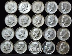 1964 P Kennedy 50c Half Dollars Silver BU Roll of (20) Coins $10 Face Value 90%