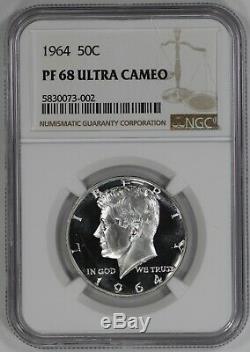 1964 Proof Kennedy Half Dollar 50c Pf Pr 68 Ultra Cameo (002)