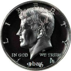 1964 accented hair U. S. Proof Kennedy half dollar graded PF68 cameo by NGC
