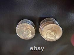1964 kennedy half dollar roll bu