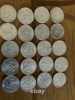 1964 kennedy half dollar roll of 20