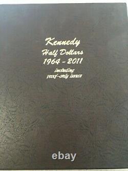 1964 to 2017 P D S S Silver Proof 180 Kennedy Half Dollar Set in Dansco Album