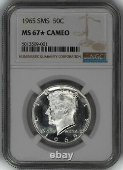 1965 Sms Kennedy Half Dollar 50c Ngc Certified Ms 67 Mint Unc Star Cameo 001
