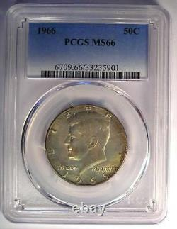 1966 Kennedy Half Dollar (50C Coin) PCGS MS66 Rare in MS66 $325 Value
