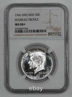 1966 Sms Ddo Kennedy Half Dollar 50c Ngc Ms 68+ Mint State Unc Plus (056)