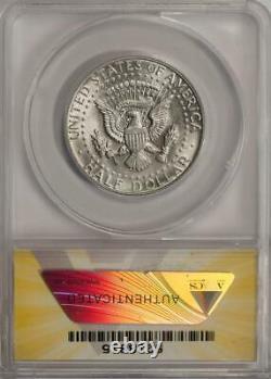 1967 ANACS AU50 Struck Thru Cloth Silver Kennedy Half Dollar Mint Error Rare