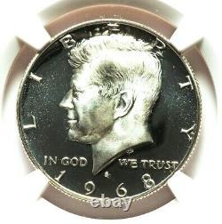1968-S NGC PF69 Ultra Cameo Proof Kennedy Silver Half Dollar PQ Eye Appeal UCAM