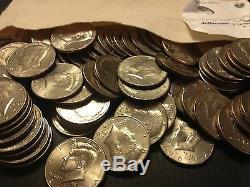 1971 2018 PD Kennedy Half Dollar 100 Coin Lot 2x Silver 90% 40% +U. S. Mint Bag