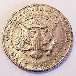 1972-D Kennedy Half Dollar No FG Missing Initials ERROR (FS-901) RARE