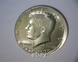 1976 Kennedy Half Dollar, Off Center Strike, Bicentennial Us Error Coin