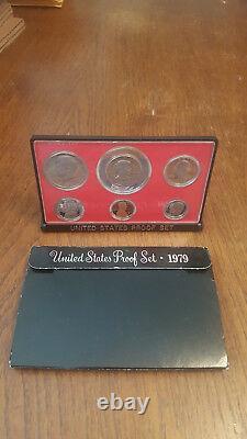 1979 US Coin Proof Set Susan B Dollar Kennedy Half Birth Year Free Shipping 0007