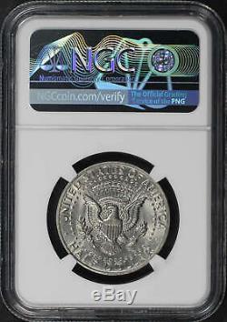 197X Kennedy Half Dollar NGC MS-64 Obverse Struck Thru Capped Die Error