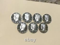 1992-1998 S Silver Kennedy Half Dollar Cameo Gem Proof Set (7) High Grade Coins