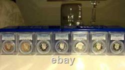1992-2019-S Silver Kennedy Half Dollar PCGS PR70 Run with boxes Blue Label