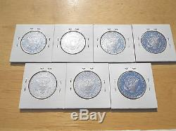 1992 93 1994 1995 1996 1997 1998 S Silver Proof Kennedy Half Dollar 7 Coin Set