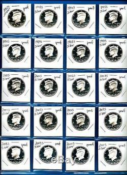 1992 S through 2017 S SILVER PROOF Kennedy Half Dollar Set-26 Gem Proof Coins