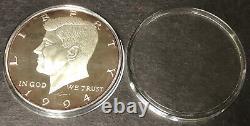 1994 Kennedy Half Dollar 8 Troy Oz. 999 Silver Proof Case & COA Washington Mint