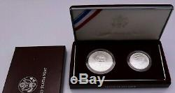 1998 U. S. Mint Kennedy Collector's Set Silver UNC Dollar & Matte Half Dollar