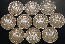 1999 2009 S Silver Kennedy Half Dollar Gem Proof Run 11 Coin Set US Mint