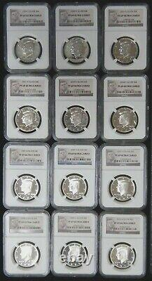 1999-2010 Proof Silver Kennedy Half Dollar Set NGC PF69 Ultra Cameo #JN27