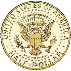 (1) 2014 50th Anniversary Kennedy Half-Dollar Gold Proof Coin (K15)