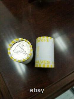 1 Box 50 Bank Wrapped Rolls of Kennedy Half Dollars Unsearched $500 Face Value