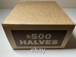 (1) Kennedy Half Dollar Sealed Bank Box (50) Rolls Circulated Happy Hunting