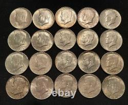 1 Roll (20) 90% Silver 1964 Kennedy Half Dollars (#12)