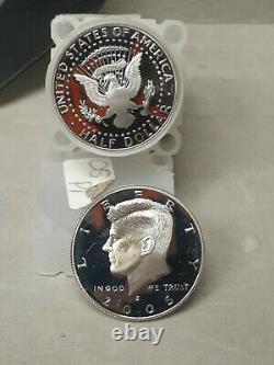 2005 S Silver Kennedy Half Dollar Proof Roll 20-50c US Coins GEM 90% SILVER