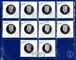 2009 S through 2018 S Clad Proof Kennedy Half Dollar Set-Gem Proof-TEN COINS